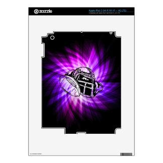 Cool Purple Football Skin For iPad 3