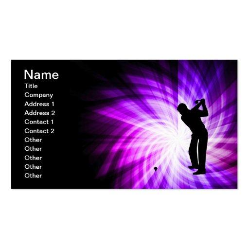 Cool Purple Golf Business Card