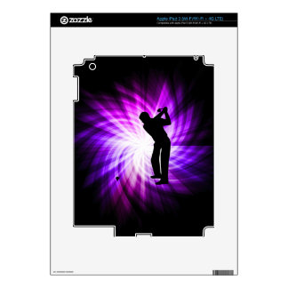 Cool Purple Golf iPad 3 Decals