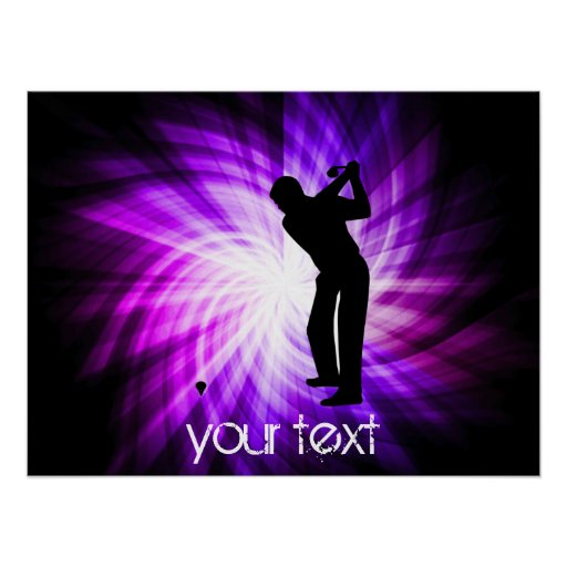 Cool Purple Golf Posters