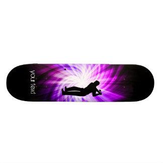 Cool Purple Golf Skateboard Deck