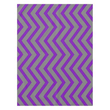 Halloween Themed Cool purple grey Chevron  tablecloth