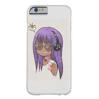 Cool purple hair chibi iPhone case
