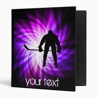 Cool Purple Hockey Binder