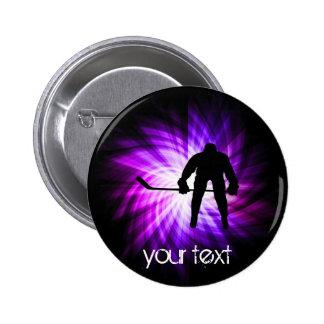 Cool Purple Hockey Button