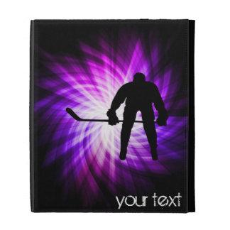 Cool Purple Hockey iPad Folio Case