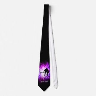 Cool Purple Hockey Neck Tie