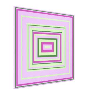 Cool Purple, Lilac, Mint Green Decorative Design Canvas Print