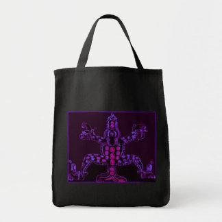 Cool Purple Mayan Animal Canvas Bags
