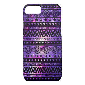 Cool Purple Nebula Aztec iPhone 7 Case