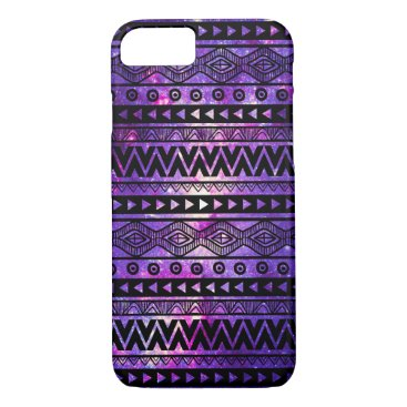 Aztec Themed Cool Purple Nebula Aztec iPhone 7 Case