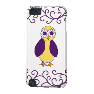 Cool Purple Owl iPod Touch (5th Generation) Case
