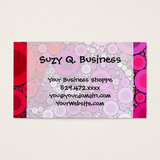 Cool Purple Pink Concentric Circles Girly Pattern Business Card