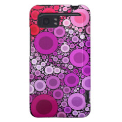 Cool Purple Pink Concentric Circles Girly Pattern HTC Vivid Cases