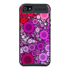 Cool Purple Pink Concentric Circles Girly Pattern Cover For iPhone 5