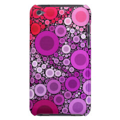 Cool Purple Pink Concentric Circles Girly Pattern Barely There iPod Cases