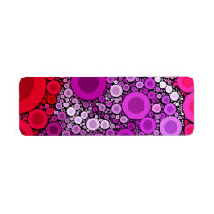 Cool Purple Pink Concentric Circles Girly Pattern Labels