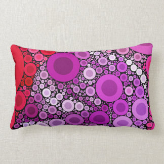 Cool Purple Pink Concentric Circles Girly Pattern Throw Pillow