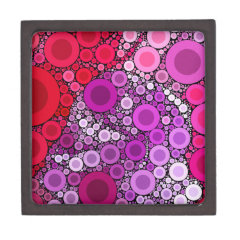Cool Purple Pink Concentric Circles Girly Pattern Premium Jewelry Boxes