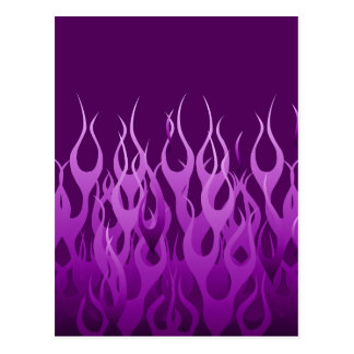 Cool Purple Racing Flames Pin Stripes Postcard