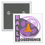 Cool Purple Rally Obedience Pinback Buttons
