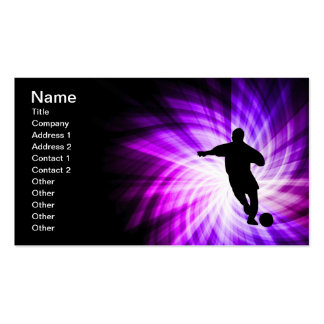 Cool Purple Soccer Double-Sided Standard Business Cards (Pack Of 100)