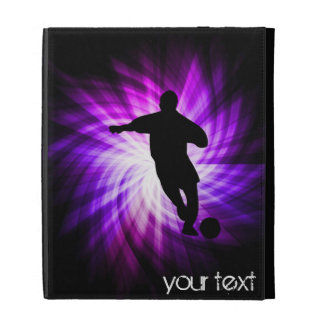 Cool Purple Soccer iPad Cases