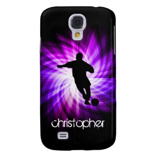Cool Purple Soccer Galaxy S4 Cases