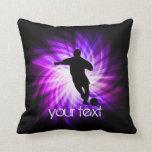 Cool Purple Soccer Pillow