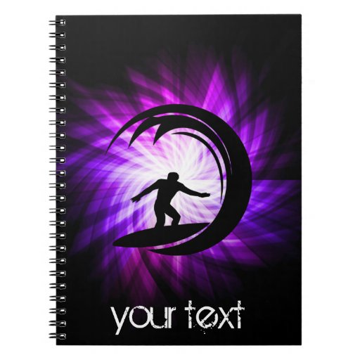 Cool Purple Surfing Note Book