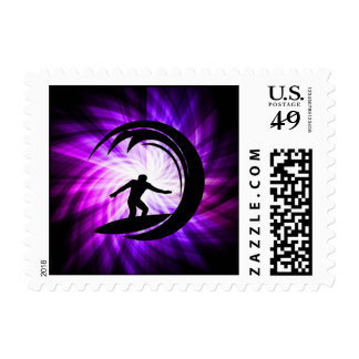 Cool Purple Surfing Stamps