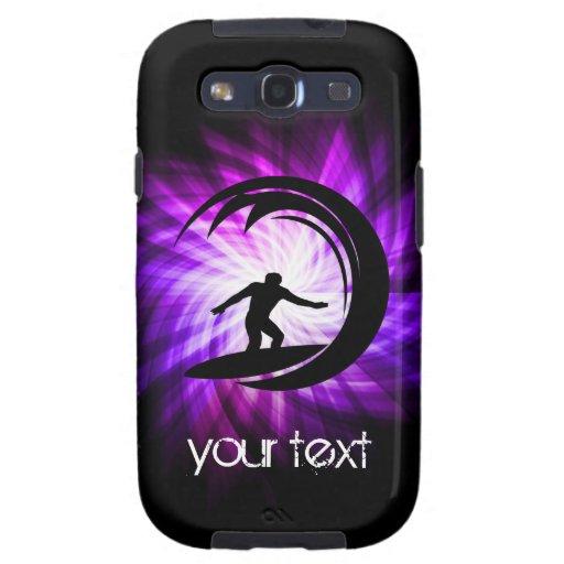 Cool Purple Surfing Samsung Galaxy SIII Case
