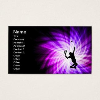 Cool Purple Tennis Business Card