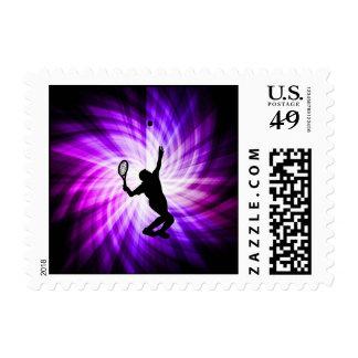 Cool Purple Tennis Postage