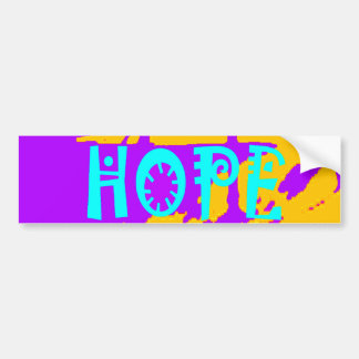 Cool Purple USA Hillary Hope We Are Stronger Toget Bumper Sticker