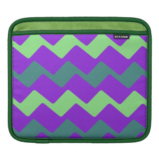 Cool Purple Wave Accent Stripes Sleeve For iPads