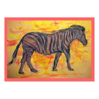 cool purple zebra Art Large Business Cards (Pack Of 100)