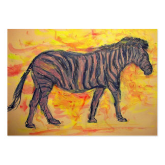 cool purple zebra large business cards (Pack of 100)