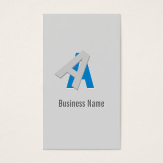 Cool Puzzle Text Golf Business Card