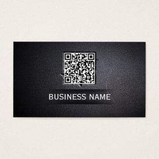 Cool QR Code Embed Dark Business Card