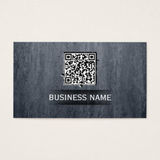 Cool QR Code Embed Stone Texture Business Card