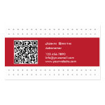 Cool QR Code Red Label Astronomer Business Card