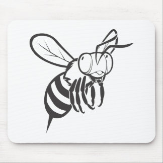 Cool Queen Bee Outline Cartoon Shirt Mouse Pad