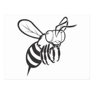 Cool Queen Bee Outline Cartoon Shirt Postcard