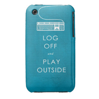 cool quote log off & play outside iPhone 3 Case-Mate cases