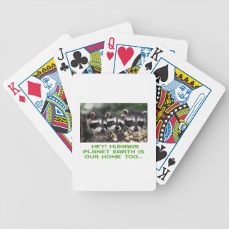 cool raccoon designs bicycle playing cards