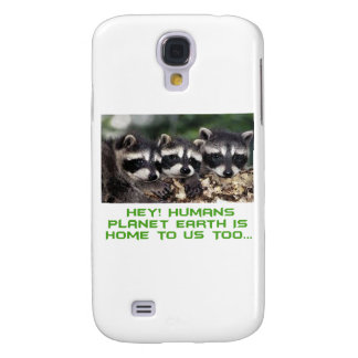 cool raccoon designs samsung galaxy s4 cover