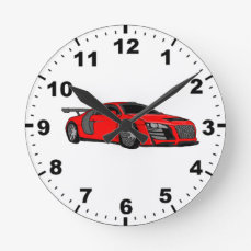 Cool race car design wall clocks