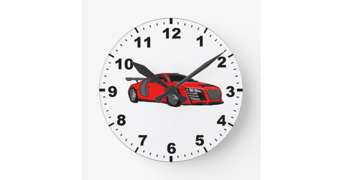 Cool Race Car Design Wall Clocks Zazzle
