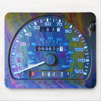 Cool Race Car Speedometer Modern Art Mousepad